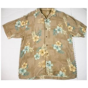 Tommy Bahama 100% Silk Casual Hawaiian Aloha Shirt